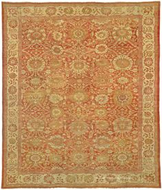 SULTANABAD, West Central Persian 13ft 0in x 15ft 6in Late 19th Century. This antique Persian Sultanabad is a high decorative carpet of the top-most tier, preserved in very good condition.