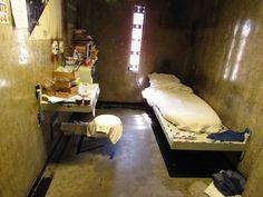 A psychiatric segregation cell at Sacramento Prison.