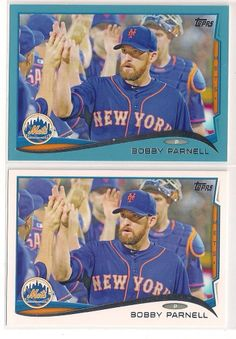 2014 Topps Bobby Parnell Walmart Exclusive Blue Parallel & Base cards *2 for 1* #NewYorkMets