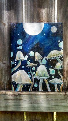 Mushroom Painting. by acorntooakart on Etsy