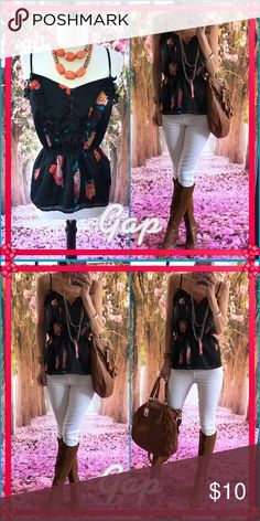 🌈Gap🌈 Simple sweet Gap tank, casual chic and sassy. Perfect t spring frock!. New condition! GAP Tops Tank Tops
