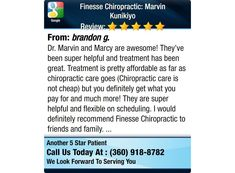 Dr. Marvin and Marcy are awesome! They've been super helpful and treatment has been...