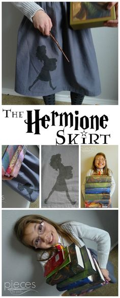 Pieces by Polly: The Hermione Skirt - Perfect for Everyday Wear at Hogwarts or Hermione Granger Costume Harry Potter Fans