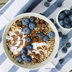 CACAO BANANA OATS SMOOTHIE BOWL   2 bananas, 1/2 tsp vanilla, 100ml rolled oats, 350ml almond milk, 2 scoops of The SUPER ELIXIR Nourishing Protein. Combine and blitz ingredients. Top with fresh blueberries. Source: @blueberrysmoothies.