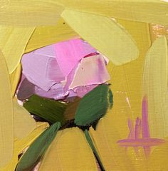Pink Peony no. 21 Original Floral Oil Painting by Angela Moulton 4 x 4 on Birch Plywood Panel pre-order by prattcreekart on Etsy