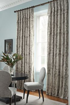 Zoffany - Constantina Damask  Weave Collection - Elena  - 2015 - is a modern day interpretation of a Zoffany favourite, 'Crivelli Damask'.The pattern has been distressed, giving it an antique, slightly block printed feel.