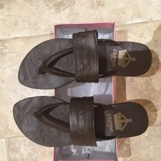 Crown vintage brown leather sandals New, never worn size 10 sandals Crown vintage Shoes Sandals