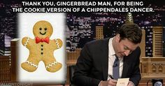 @Regrann from @fallontonight -  Thank you gingerbread man... #FallonTonight #Regrann