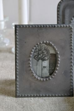 zinc frame    Sarah and Grace home decor