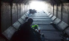 The tunnel dwellers of Las Vegas: where the city's vices play out in the shadows There's an even darker side to the gambling mecca – a homeless community in underground tunnels that struggles with addiction (Dan Hernandez in Las Vegas, The Guardian,  14 September 2016) Caption: John Aitcheson, 59, says he is a regular gambler: 'I don't know how many times…