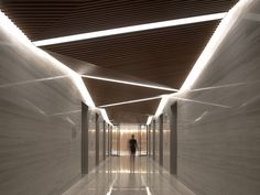 Spark Architects Perspective on Modern Architecture - CEILING Lobby Design, Design Entrée, Flur Design, Plafond Design, Design Ideas, Design Case, Design Projects, Architecture Design, Light Architecture