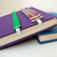 Make pretty bookmarks and journal wraps for the book worms and writers in your life. Great gift ideas!