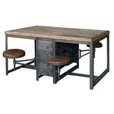 art workstation   industrial work table   antique artist furniture  