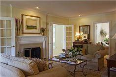 Elegant Transitional Living Room by Barbara Feinstein