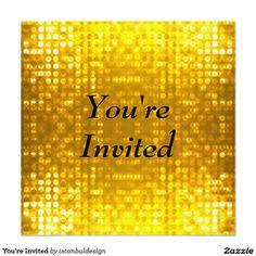 You're Invited 5.25x5.25 Square Paper Invitation Card