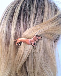 Dachshund Hair Barrette Small French Barrette Dog Lover