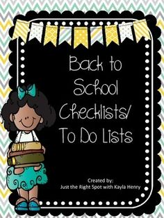 Are you starting to think about Back to School time? It feels a little overwhelming to think about everything that needs to be done. This freebie will help you organize your thoughts! It includes several checklists and to do lists for you to write down what you need to do.
