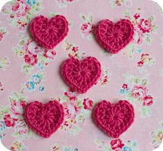 Diddy crocheted hearts pattern.