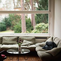 low sofas and table