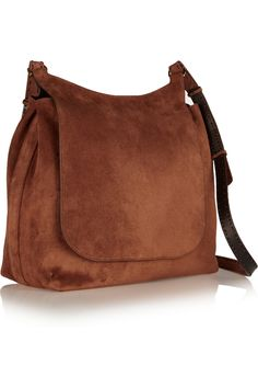 The Row | Sideby suede shoulder bag | NET-A-PORTER.COM
