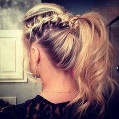 braid + poof + ponytail