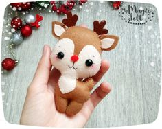 ★ATTENTION★ This item is Made to Order (4-6 WEEKS for making, shipping time about 2-3 weeks). Before Christmas the delivery time growing up +10-15 days, because the post offices are very busy. After October 25 I can not guarantee, that your purchase will be delivered before Christmas  Felt Christmas ornaments felt Reindeer Rudolph the red nose felt Christmas ornament Rudolph Christmas tree decoration Christmas gifts  Ornament has a loop for hanging (length about 3 inch).  ● Dimensions…