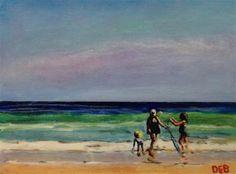 "Daily Paintworks - ""Topsail Fun"" - Original Fine Art for Sale - © Debbie Yacenda"