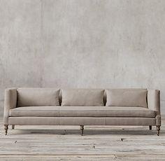 St. George Shelter Arm Upholstered Sofa Lengths: 6', 7', 8', 9'