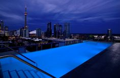 Take in Toronto's cityscape poolside at its first and only rooftop infinity pool and lounge at Thompson Toronto