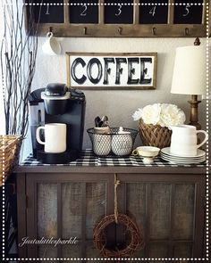 Coffee station, coffee bar More