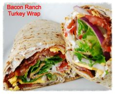 Bacon Ranch Turkey Wrap..the best sandwich ever..Go to cookiescrumbsandchickens.blogspot.com for the recipe