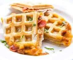 Food Hack: Stuffed Pizza Waffles