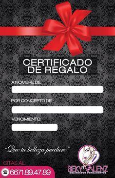 Tenemos certificado de regalo!!