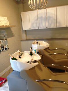 Shampoo bowls and bubbly!