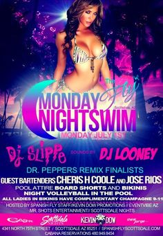 THE FLY – MONDAY Night Industry Pool Party – 07.01.2013