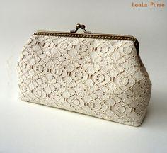 Organic Cotton Lace Clutch
