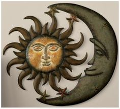 Gettington.com: Sun + Moon Wall Decor