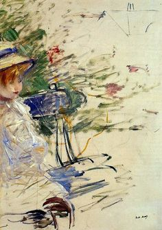 Little Girl in a Garden Berthe Morisot - 1884