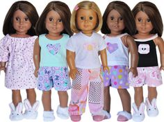 American+Girl+Birthday+Party++Pajama+Party+by+LoriLizGirlsandDolls,+$60.00