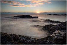 Sunrise at Carlingheugh Bay in Arbroath, SCOTLAND. Christmas In Scotland, Stunning Photography, North Sea, Sunrise, City, Beach, Water, Outdoor, Gripe Water