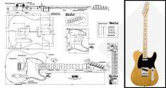 Plan of Fender® Telecaster® Standard Electric Guitar