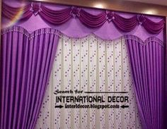 Purple Luxurious Living Room Curtains