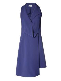 Balenciaga Waterfall-draped sleeveless dress