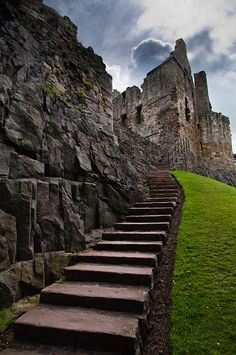 Dirleton Castle, Scotland - gardens and fortress dating back to the 13th century
