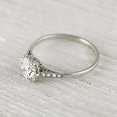 1 Carat Cushion Cut Vintage Engagement Ring | New York Vintage & Antique Estate Jewelry – Erstwhile Jewelry Co NY