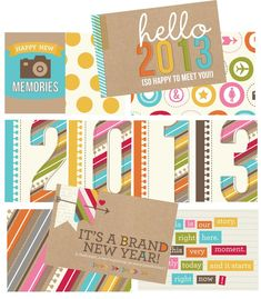 2013 snap printables - layout idea for project life 2013.