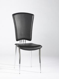 Chintaly Imports Tracy Black Modern Side Chair Set of 6