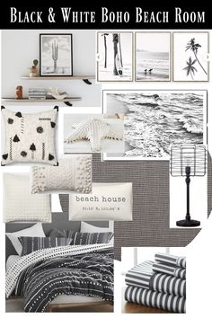 Decorating a beach house or just want a coastal themed bedroom? Check out these two different Boho Beach House Decor looks for your place! Diy Home Decor For Apartments, Beach Apartment Decor, Tropical Home Decor, Beach Room, Seaside Beach, Beach House Decor, Modern Beach Decor, Beach House Bedroom, Beach Condo