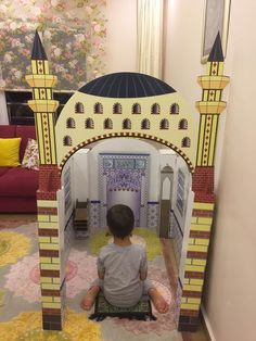 Ramadan Create a prayer area for your kids that looks like a personalized masjid Back Lighting