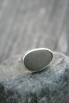 Beach Pebble Sterling Silver Ring Warmth by Decadence2...pinned by ♥ wootandhammy.com, thoughtful jewelry.